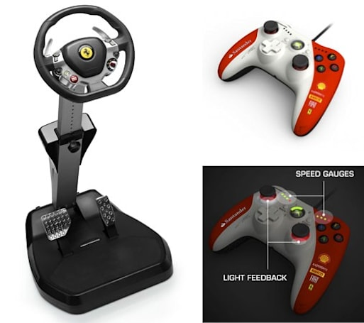 Thrustmaster unveils Ferrari Vibration GT Cockpit 458 Italia Edition and Ferrari gamepad for Xbox 360, we go hands-on