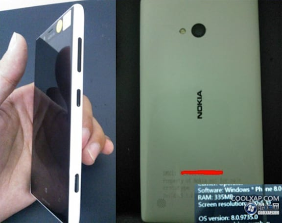 Nokia Lumia 820 prototype breaks cover in photos, confirms little else