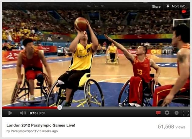 YouTube live streaming this year's London Paralympics in the US and Canada