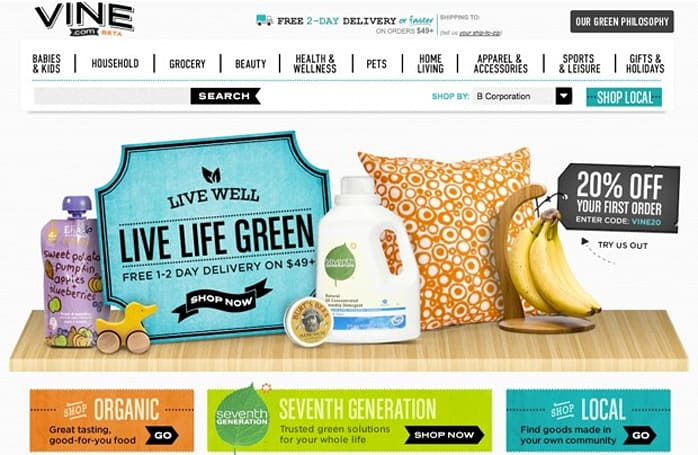 Amazon launches Vine.com for shoppers who live life on the 'green' edge