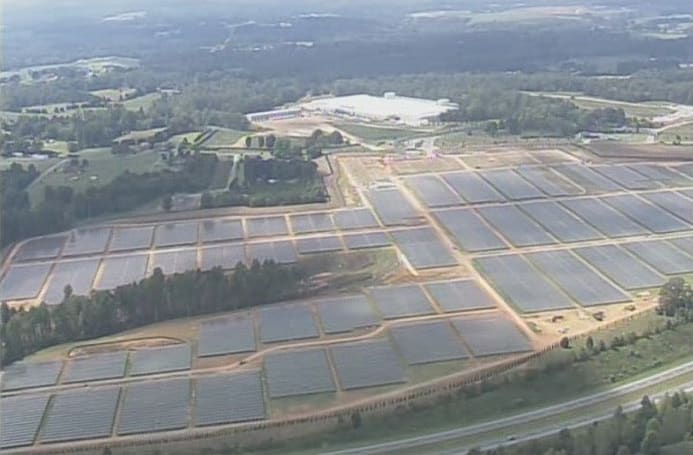 Visualized: Apple's 20 megawatt solar farm