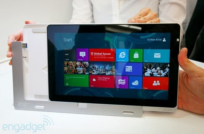 Acer Iconia W700 Windows 8 tablet ships this month with a cradle and keyboard included, starts at $800