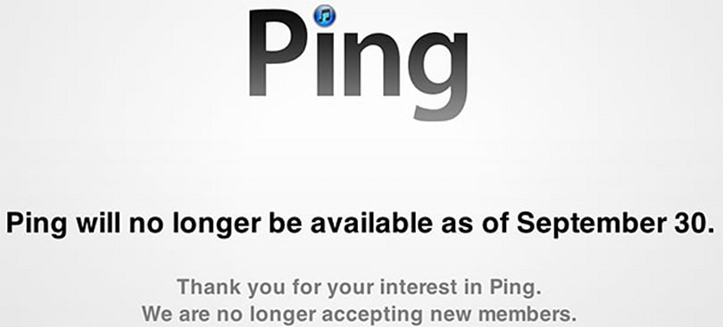 Apple's Ping no longer pinging back, leaves memories of white noise in its wake