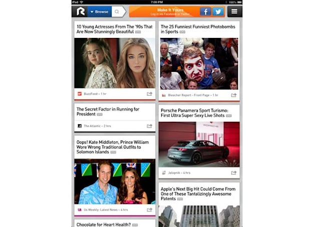 RockMelt social browser comes to the iPad, offers up news stories tailored to your interests