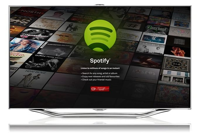 Samsung partners with Spotify, brings streaming music to its 2012 Smart TVs in Europe