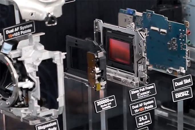 Sony's Alpha A99 gets torn apart, exposes its 35mm full-frame sensor (video)