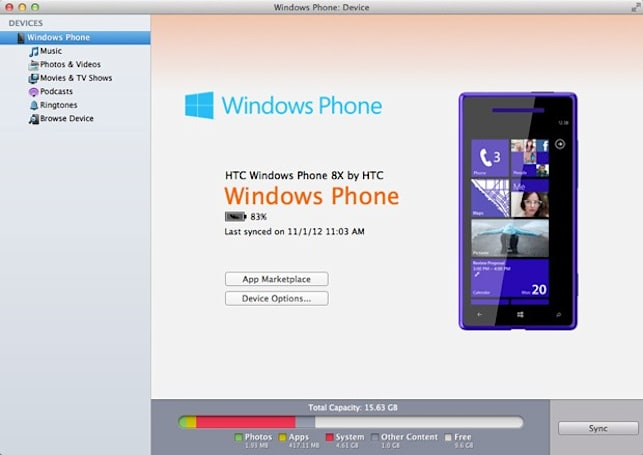 Windows Phone 7 Connector for Mac updated for WP8, rebranded simply as 'Windows Phone'