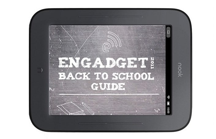 Engadget's back to school guide 2011: e-readers