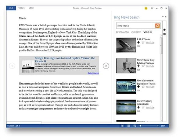 Microsoft releases Bing-powered apps for Office 365 Home Premium