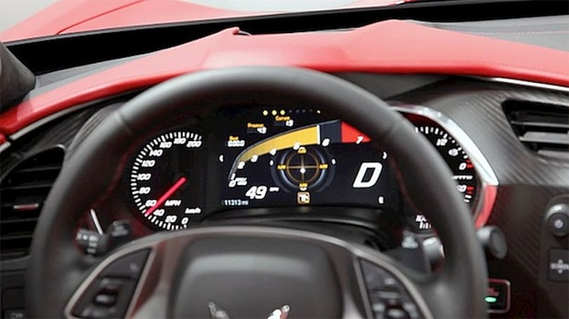 Chevrolet C7 Corvette Stingray comes with 8-inch customizable instrument cluster