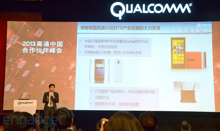 China Mobile says over 60 million TD-SCDMA devices sold in 2012, aiming for twice as many this year