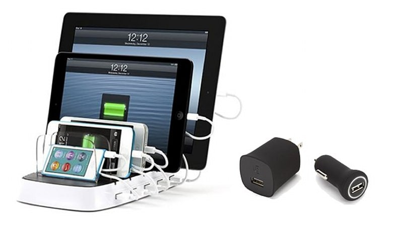 Griffin launches PowerDock 5 multi-device charging platform and ChargeSensor adapters