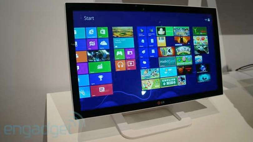 LG's ET83 touchscreen Windows 8 monitor, fingers-on