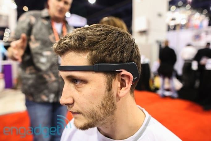 Muse brain-sensing headband thoughts-on (video)