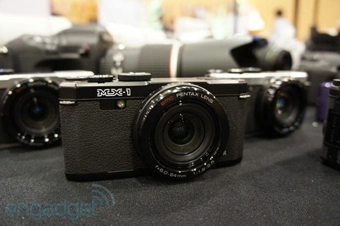 Pentax launches brass-bodied MX-1 point-and-shoot: 12MP with 4X zoom (update: now with hands-on photos)