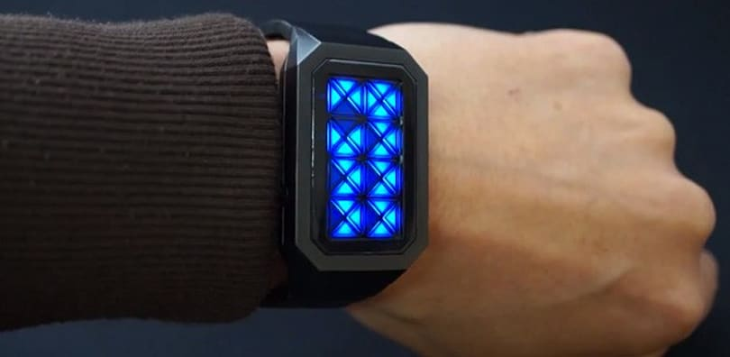 Tokyoflash Kisai Adjust watch tells time with triangles, trippy colors (video)