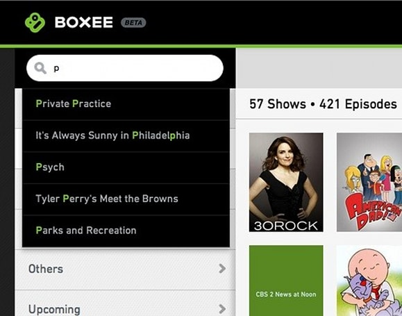 Boxee TV web app gets autocompleting searches, revamped recordings view