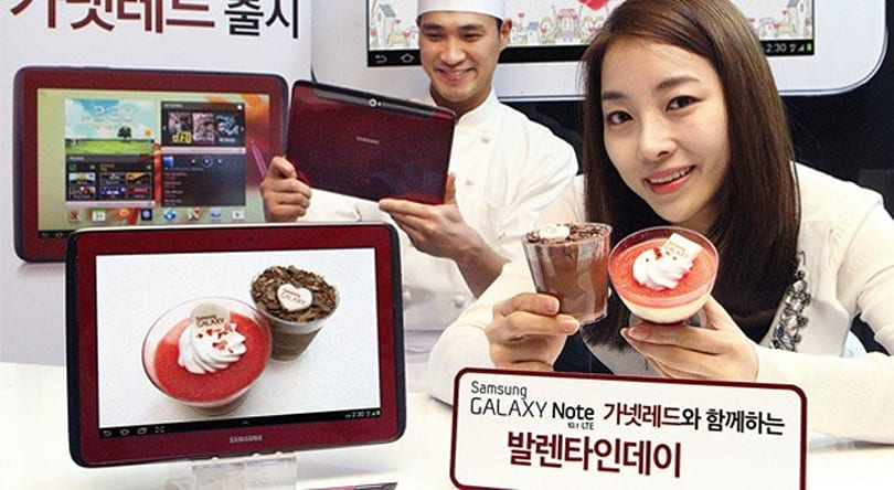 Samsung Galaxy Note 10.1 with LTE gets gussied up in Garnet Red
