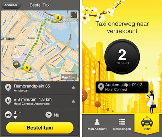TomTom intros iPhone app for its taxi trial service, helps Dutch get home quickly