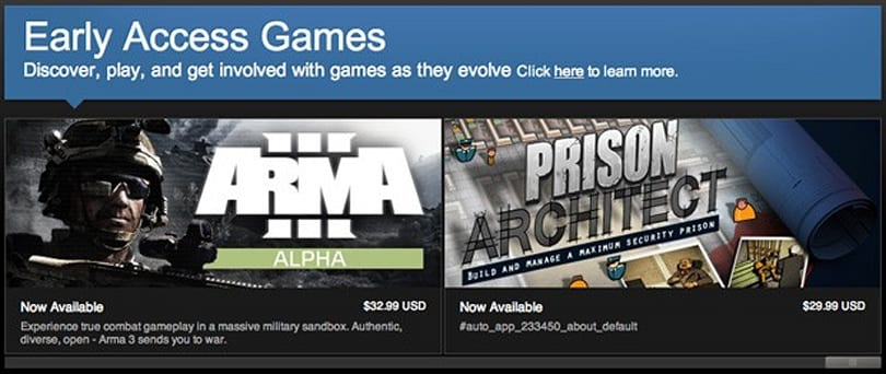 Steam Early Access makes public game tests a near-automatic affair