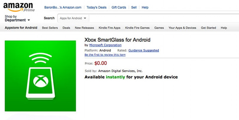Xbox SmartGlass now available on Amazon's Kindle Fire tablets