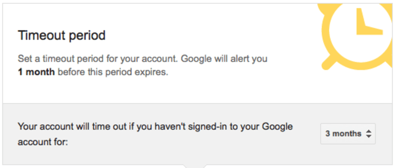 Google's Inactive Account Manager secures your digital existence after you kick the bucket