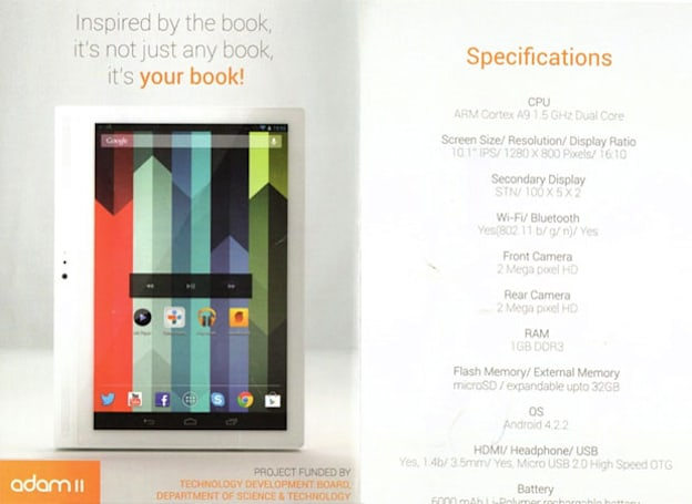 Notion Ink Adam II teased at India's National Technology Awards (updated)