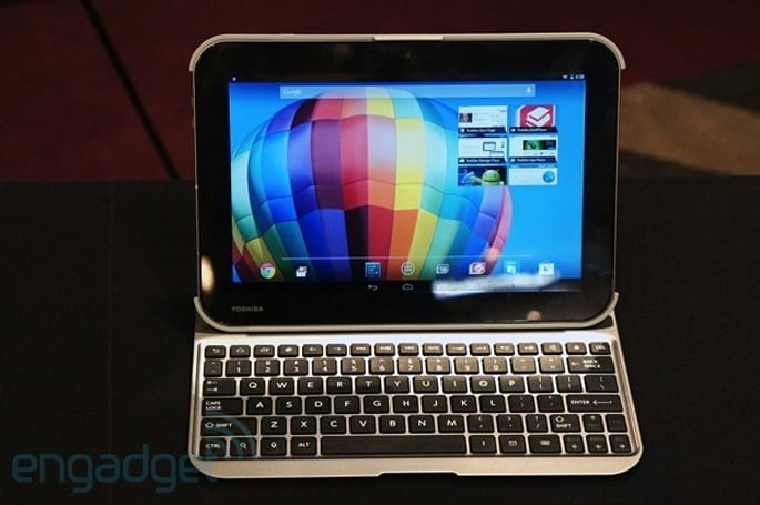 Toshiba intros three Android tablets, two with Tegra 4 and a 2,560 x 1,600 screen (update: hands-on video)