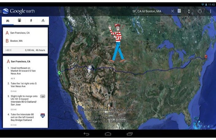 Google Earth 7.1 for Android introduces Street View and improved location search