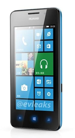Huawei Windows Phone appears in render, said to be the Ascend W2