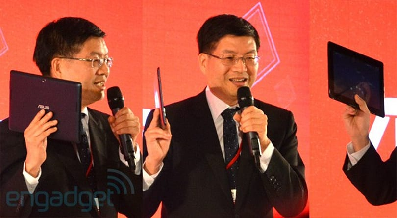 ASUS' Jerry Shen flaunts unannounced MeMo Pad FHD 10 LTE, due Q3 with Snapdragon