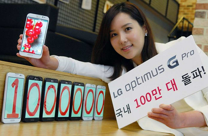 LG Optimus G Pro tops 1 million sales in South Korea