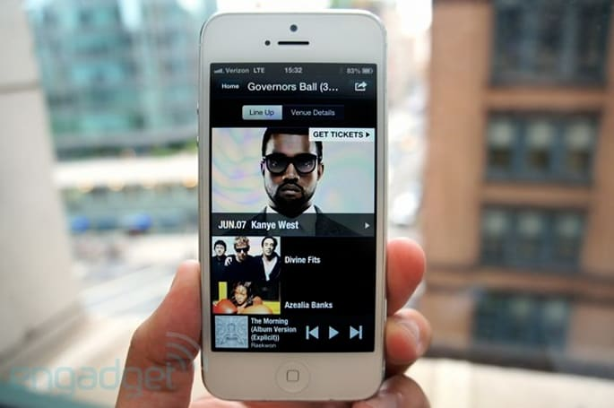 Rhapsody Concerts lets iOS users keep track of music tours, find shows nearby
