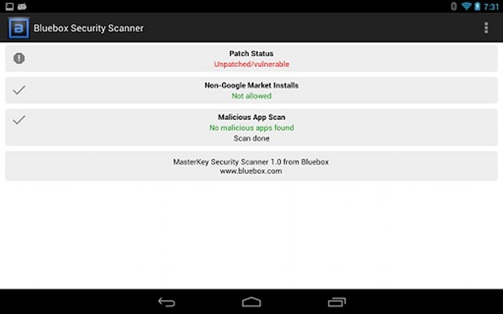 Check if your Android phone is patched against the 'Master Key' exploit with this app