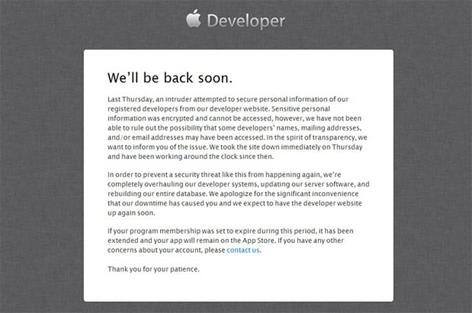 Turkish security researcher claims responsibility for Apple dev center hack