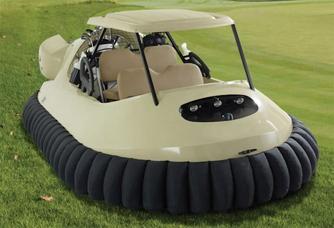 Bubba Watson's hovercraft golf cart available now for $58k, that's one dollar for every jealous comment