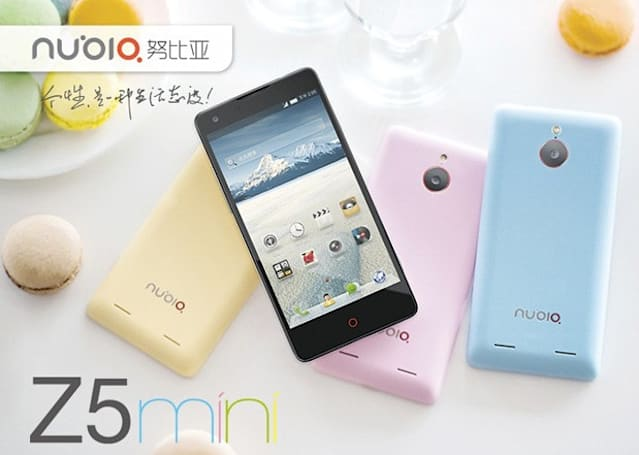 Nubia Z5 mini official, touts full-size hardware at a tiny price