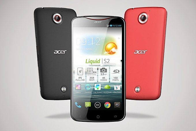 Acer announces 6-inch Liquid S2, 'first 4K-recording smartphone'
