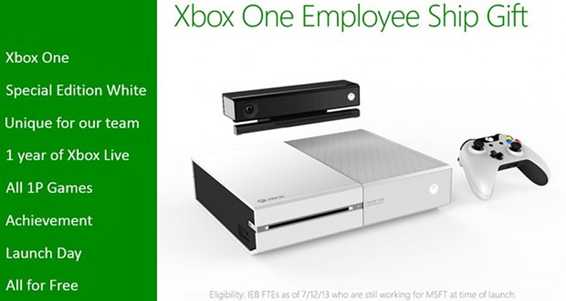 Microsoft's employee-only white Xbox One colors us green with envy
