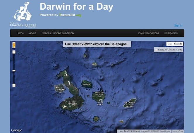 Darwin for a Day lets you play scientist, explore the Galapagos in Street View
