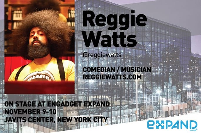 Don't miss Reggie Watts, Mark Frauenfelder, Sparkfun, Techdirt and Sol Design Lab at Expand NY!