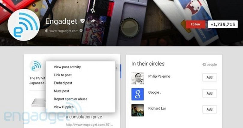 Google+ adds embedded posts and expands authorship in search results