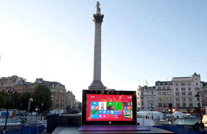 Visualized: Giant Surface 2 invades central London