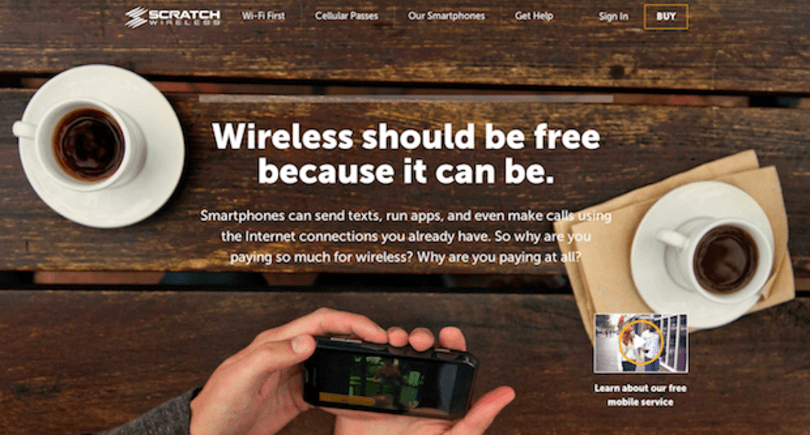 Scratch Wireless offers 'free' mobile service that uses WiFi for calls and text