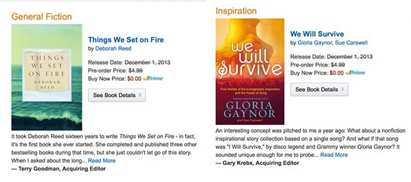Amazon intros Kindle First for those who can't wait a month for the new Gloria Gaynor book