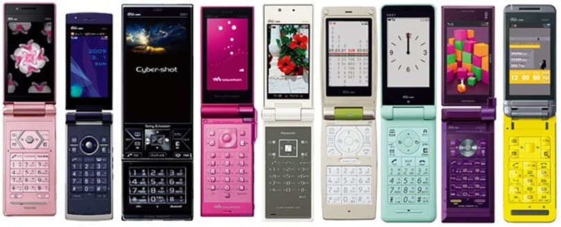 A frighteningly close look at KDDI au's Spring 2009 phone lineup