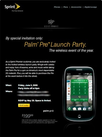 Palm Pres available tonight to invited Premier customers at launch events