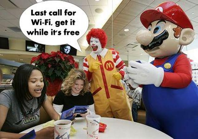 Free Wi-Fi for DS no more at North American McDonald's now