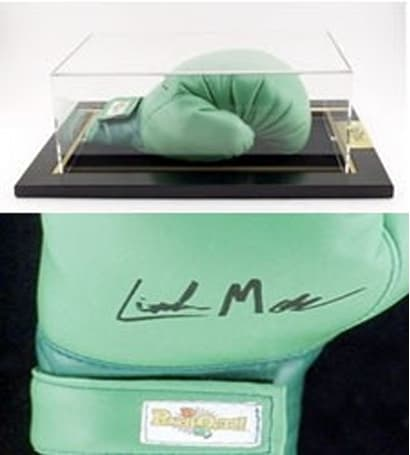Little Mac signed boxing glove $90 on Amazon ... without Punch-Out!!