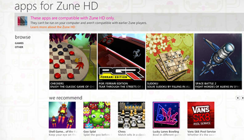 Audiosurf, PGR and other games added to Zune HD with latest update